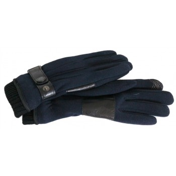 falbalas saint junien - GANT EN LAINE APPLICATION CUIR - TACTILE SMARTPHONE 39,90 € Gants Entiers homme