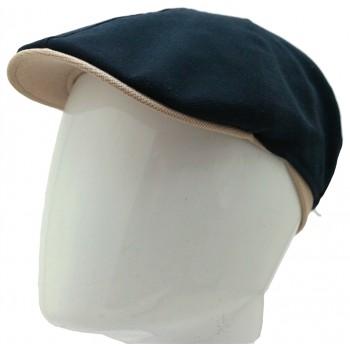 Casquette plate Jockey bicolore en laine ou en lin - 221B - 59,80 € - Falbalas st junien