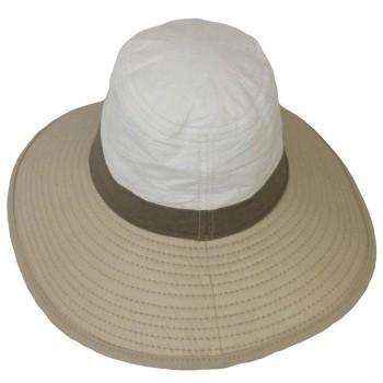 Falbalas saint junien Soway chapeau mixte anti-uv grands bords balnc beige 718BGB