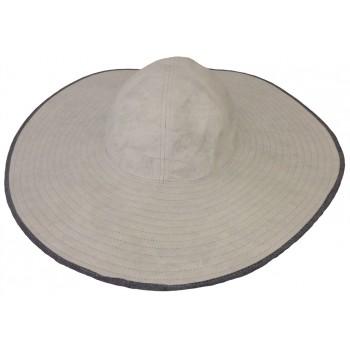 Falbalas saint junien Soway capeline femme anti-uv en polyester blanc jean CAPELINE417