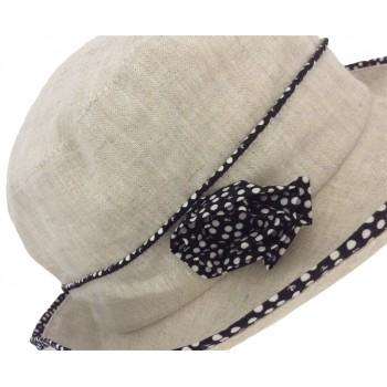 CHAPEAU FEMME BOB EN LIN DOUBLURE COTON - LYRA - 49,80 € - Falbalas st junien