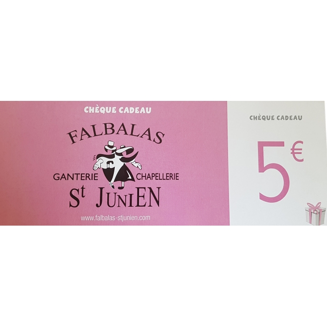 falbalas saint junien - CHÈQUE CADEAU 5€ FALBALAS SAINT JUNIEN 5,00 € CHÈQUE CADEAU