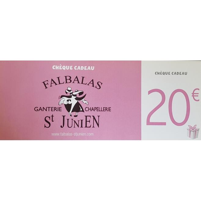 CHÈQUE CADEAU 20€ FALBALAS SAINT JUNIEN - CCD20euros - 20,00 € - Falbalas st junien