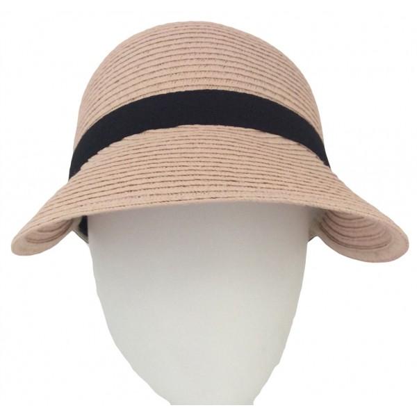 Casquette à large visière pour femme en papier - E12127PAPIER - 25,00 € - Falbalas st junien