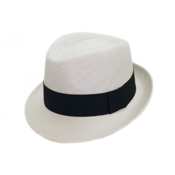 Panama homme petits bords en papier blanc - CARISIO ORIENTAL - 59,30 € - Falbalas st junien