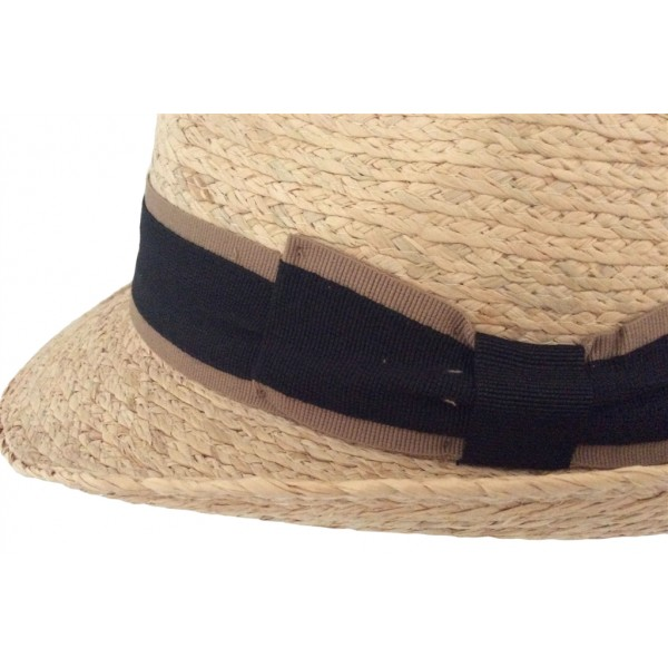 Chapeau homme en paille raffia naturel - 17057RAFFIA - 24,50 € - Falbalas st junien