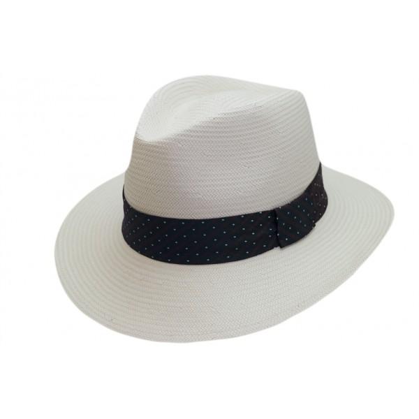 Chapeau homme toyo en paille blanc - 16323TOYO - 59,60 € - Falbalas st junien