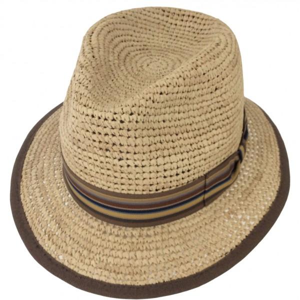 CHAPEAU HOMME RAFFIA EN PAILLE NATURELLE - GWB469 - 74,80 € - Falbalas st junien