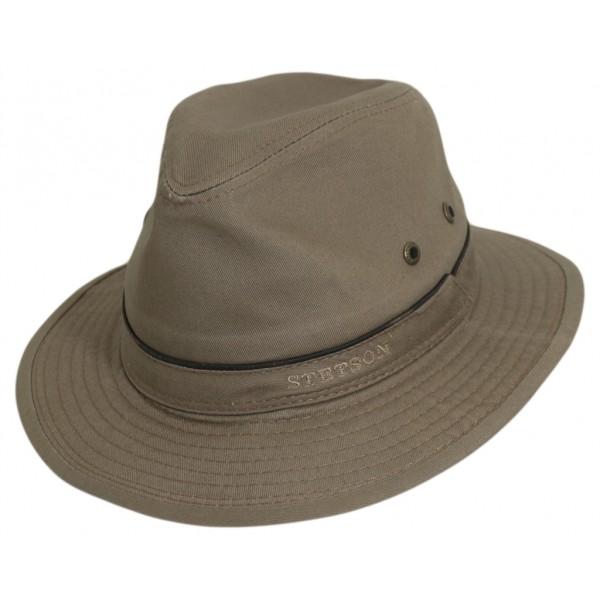 CHAPEAU HOMME TRAVELLER EN COTON - AVAMARRON2541124 - 59,90 € - Falbalas st junien
