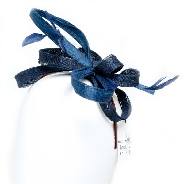Serre tête femme de cérémonie en sisal buntal - 24345 - 79,80 € - Falbalas st junien