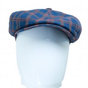 Stetson Haterras casquette ronde homme à carreaux en lin - HATTERAS6843302 - 79,90 € - Falbalas st junien