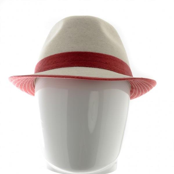 Mida chapeau homme été forme trilby en lin - 44TSALE - 49,70 € - Falbalas st junien