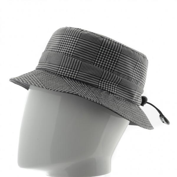 Mina chapeau femme de pluie en coton enduit gris noir - MINA - 39,90 € - Falbalas st junien