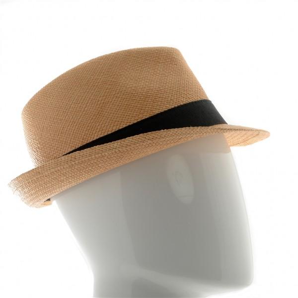 Chapeau homme Panama avec galon noir - 970 - 74,80 € - Falbalas st junien