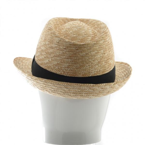 Chapeau homme en paille naturel galon noir - 62 - 39,70 € - Falbalas st junien