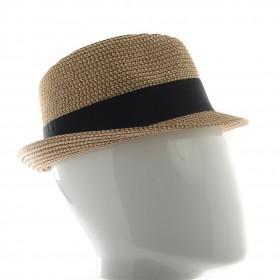 Chapeau Homme petit bord forme trilby en fibres de papier - CARISIO PAPIER - 34,80 € - Falbalas st junien