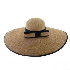 Chapeau femme Panama natuel avec galon - 601 20CM - 69,80 € - Falbalas st junien