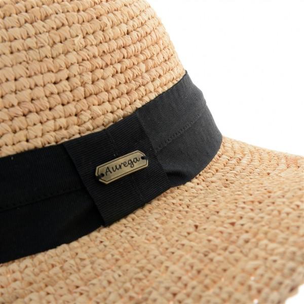 Aurega Capeline femme à calotte ronde en fibres de raffia - E17018 - 49,80 € - Falbalas st junien