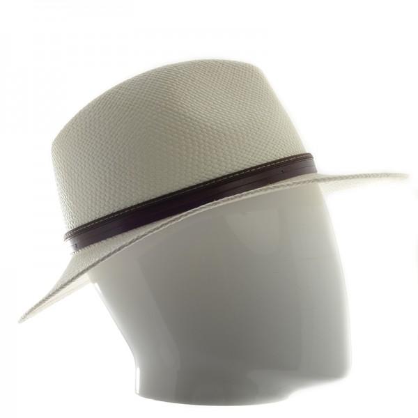Panama chapeau homme écru galon noir - 16323PANAMA - 89,80 € - Falbalas st junien