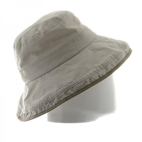 Stetson chapeau femme en coton beige pour la plage ou en promenade - LONOKE2011101 - 74,70 € - Falbalas st junien