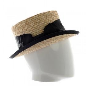 Chapeau femme en paille avec galon - 200245 - 84,60 € - Falbalas st junien