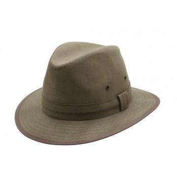 Chapeaux homme en lin marron