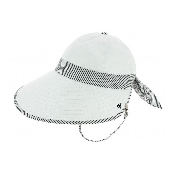 falbalas saint junien - Soway Casquette visière femme anti-uv blanc galon rayé 59,80 € Casquettes visières femme